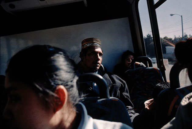 Bhutanese refugees on bus