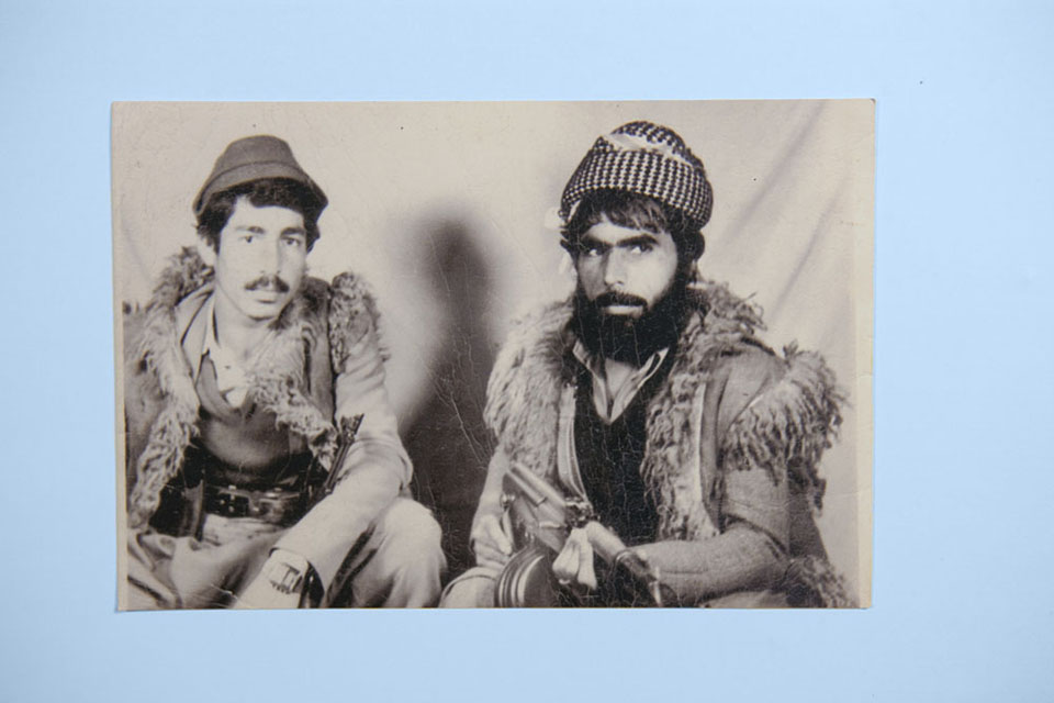 An old photograph of two peshmerga from Kurdish Iraq. The rebel movement that began in earnest in the late 1960's and 1970's, saw new momentum with the fall of Saddam Hussein in 2003.