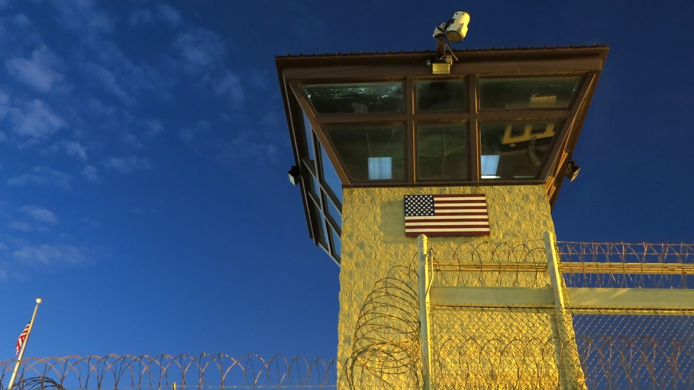 A guard tower at the US detention camp in Guantánamo Bay, Cuba, in 2016