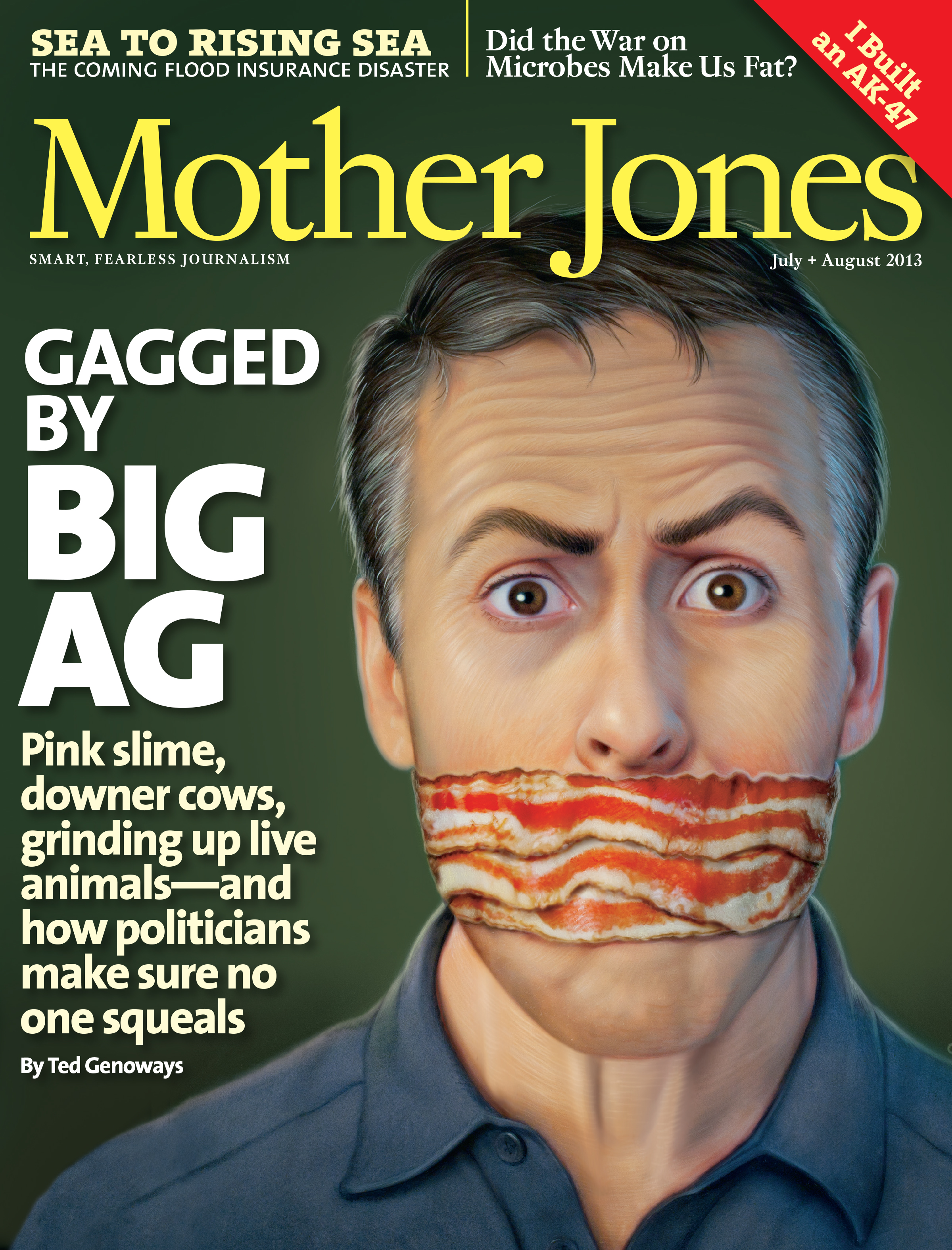 Mother Jones Magazine Cover : July + August 2013
