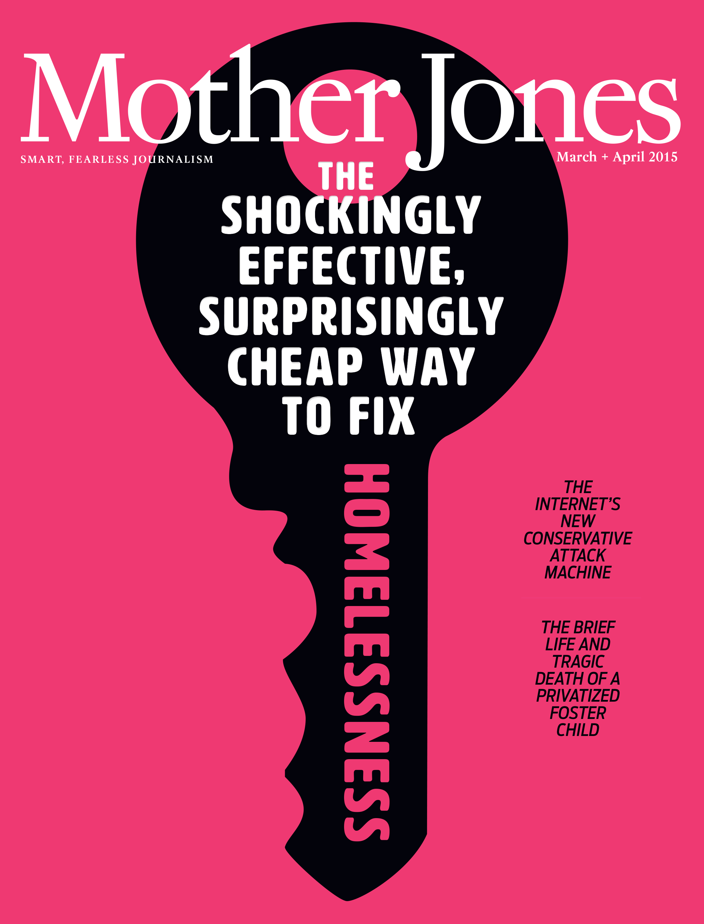 Mother Jones Magazine Cover : March + April 2015