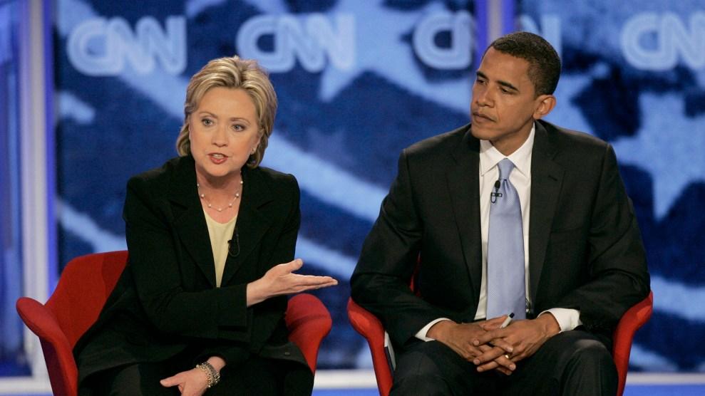 Clinton debates Obama