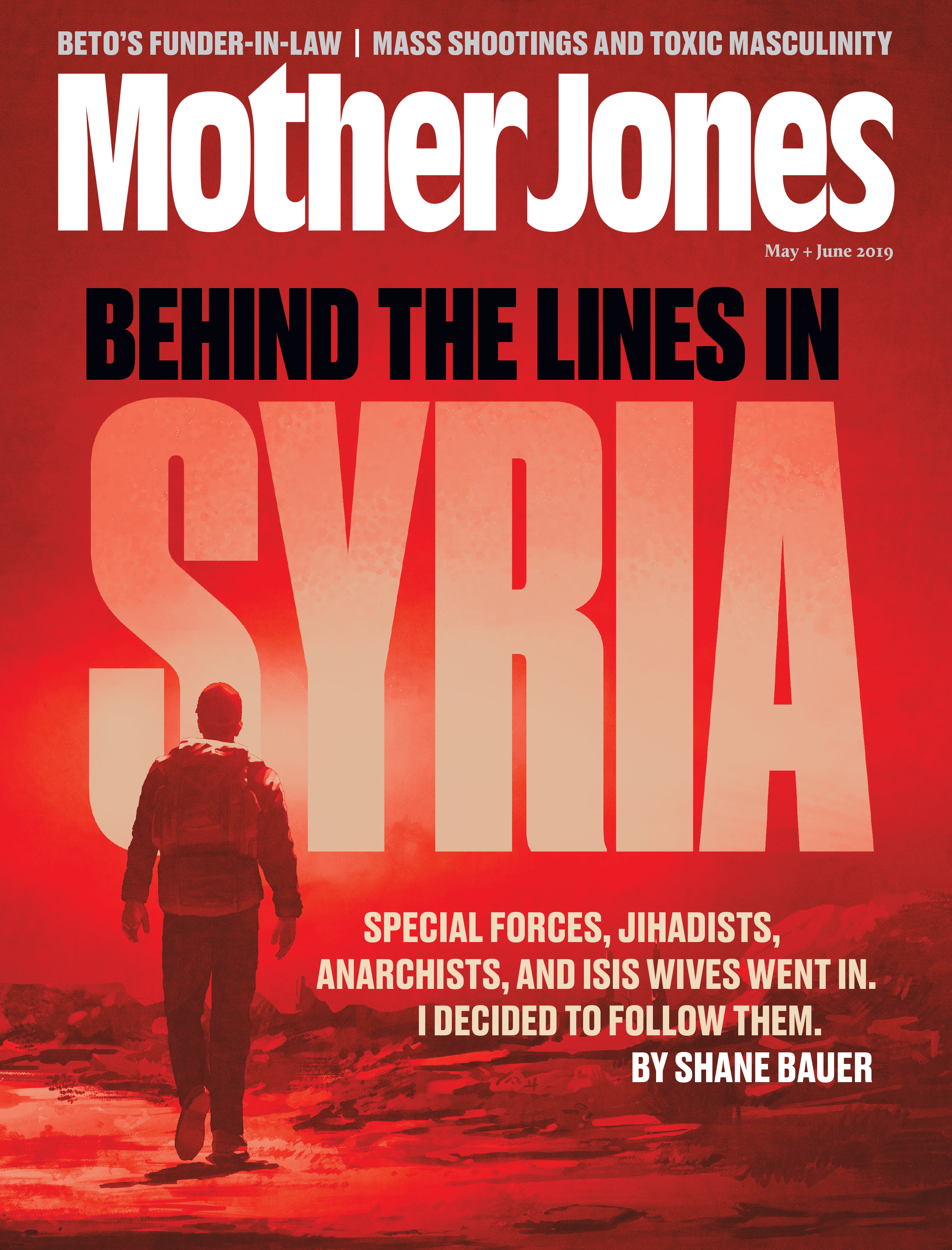 Mother Jones Magazine Cover : May + June 2019