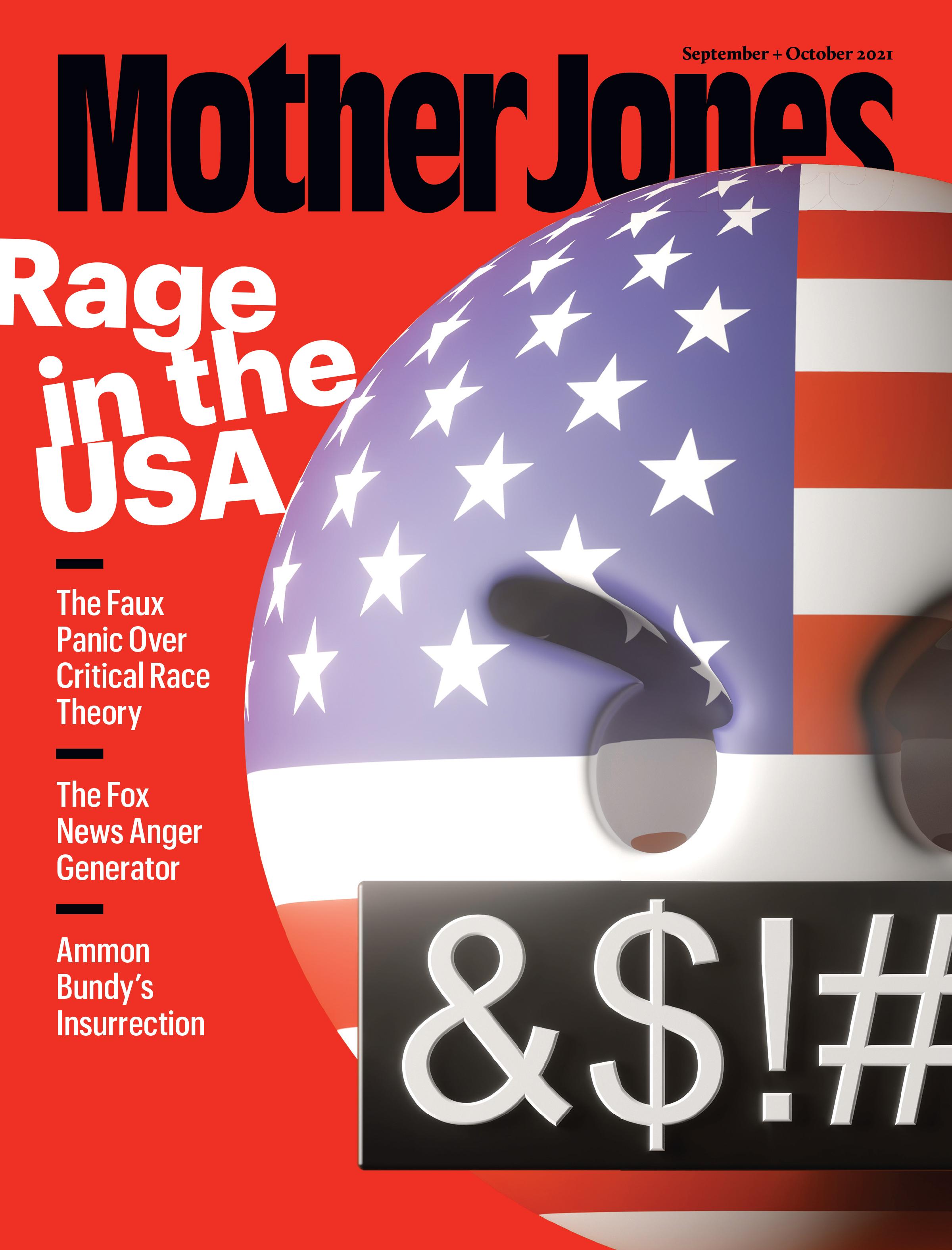 Mother Jones Magazine Cover : September + October 2021