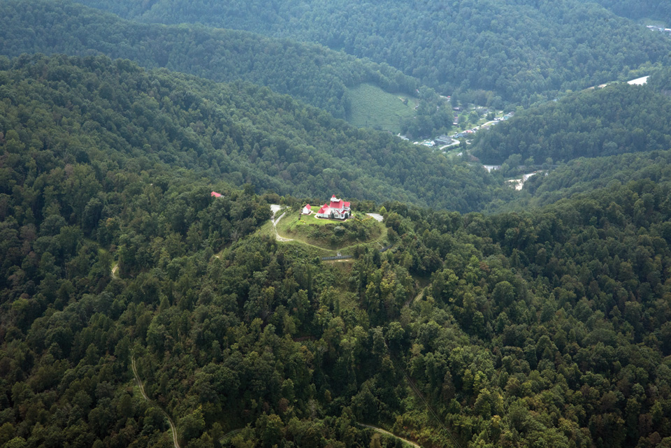 Blankenship's former mountaintop estate