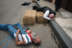 A reenactment of the Matewan Massacre