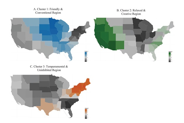 The three personality regions of the U.S.