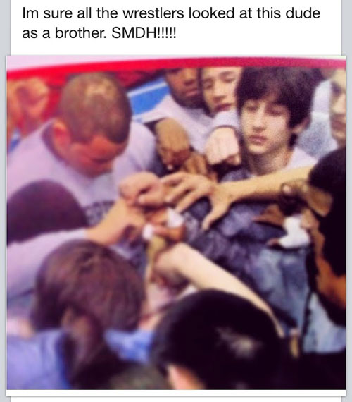 Dzhokhar Tsarnaev wrestling photo