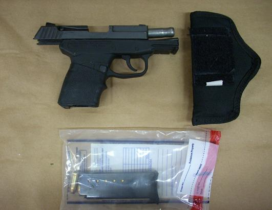 The gun George Zimmerman used to kill Trayvon: a 9mm Kel-Tec PF9 double-action pistol: State of Florida