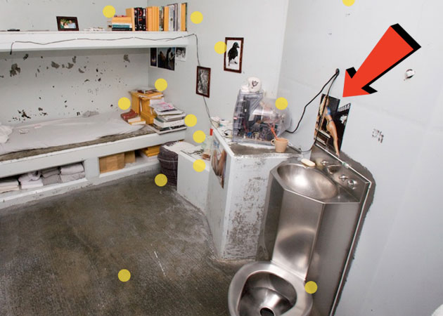 From p. 26 of Bauer's story: Inside an inmate's isolation cell at Pelican Bay Prison. Need we say more?  Shane Bauer