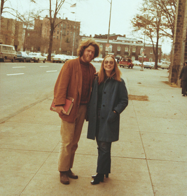 Bill Clinton and Hillary Rodham at Yale Law School in New Haven, Connecticut, in January 1972.