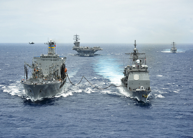 Great Green Fleet demonstrates biofuels during RIMPAC 2012. Official US Navy Imagery via Flickr