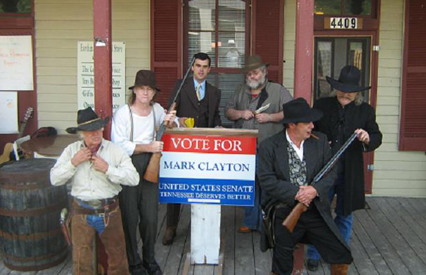 Tennessee Democratic Senate nominee Mark Clayton (third from left) during his 2008 campaign. Clayton for Senate