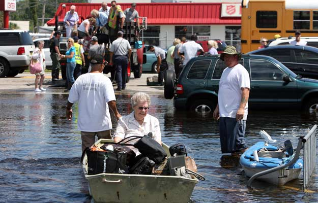 June 27, 2012 -  Port Richey, Fla. residents were evacuated from their mobile home park in the aftermath of Tropical Storm Debby. Brendan Fitterer/Tampa Bay Times/ZUMAPress
