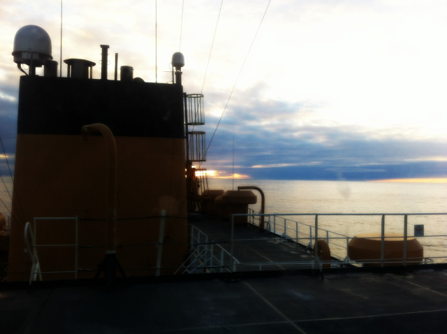 View from the 05 Deck on USCG icebreaker Healy on 15 October 2012: Julia Whitty