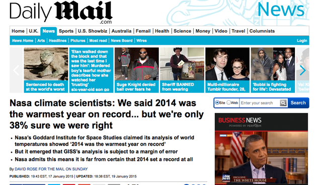 Mail on Sunday screenshot