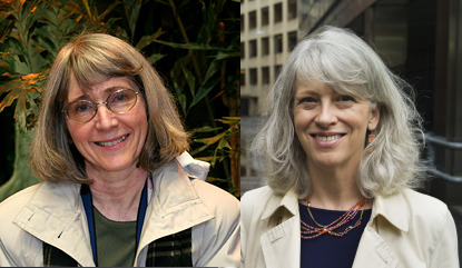 Eugenie Scott and Ann Reid, past and current directors of the National Center for Science Education.